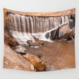 Rustic Rock Run Falls Wall Tapestry
