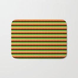 Burger Pattern Bath Mat