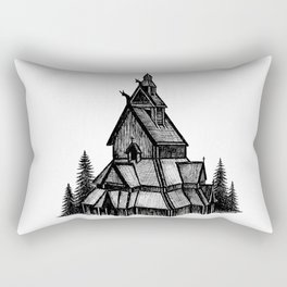 Borgund Stave Church Rectangular Pillow