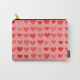Pink Valentines Love Hearts Carry-All Pouch