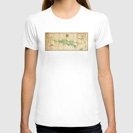 Vintage Map of Lake Champlain (1740) T-shirt