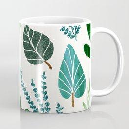 Forest Leaf Collage Coffee Mug