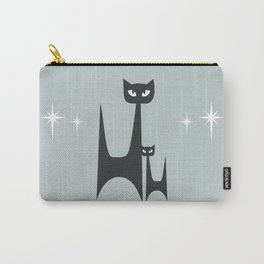 Mid Century Atomic Blue Cats Carry-All Pouch