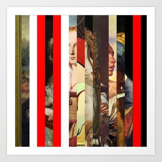 Stars in stripes 6+ Art Print