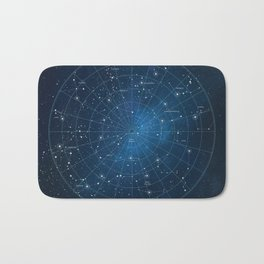 Constellation Star Chart Bath Mat