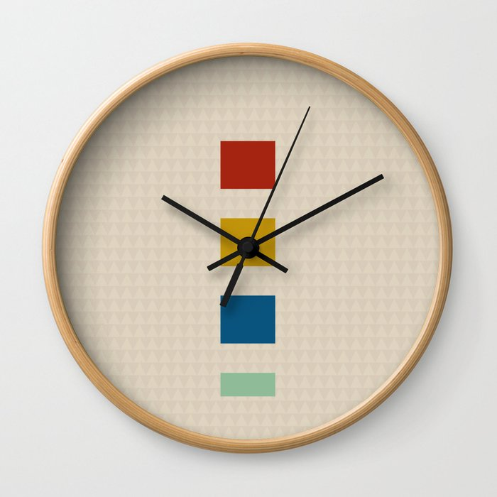 four elements || tweed & primary colors Wall Clock