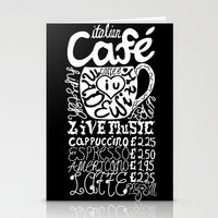 italian Stationery Cards featuring Italian Cafe by Geryes