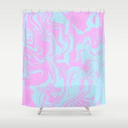 Random abstract instruction Shower Curtain