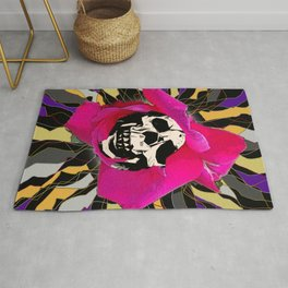 Seeing into the Soul Skull Art Rug