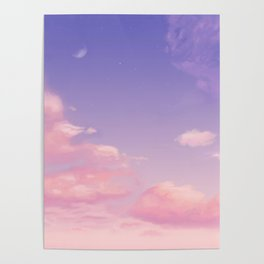 Sky Purple Aesthetic Lofi Poster