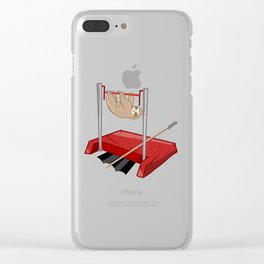 Sloth gym class Clear iPhone Case