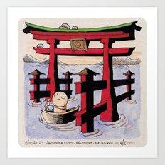 Shrine Gate Art Print