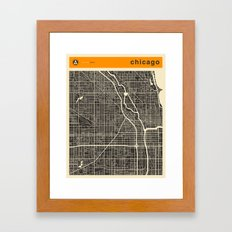 CHICAGO MAP Framed Art Print