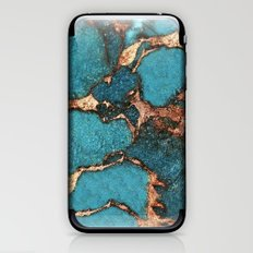 AQUA & GOLD GEMSTONE iPhone & iPod Skin