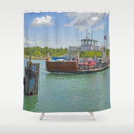 Drummond Island Ferry Shower Curtain