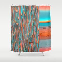 Interplay Of Warm And Cool Shower Curtain
