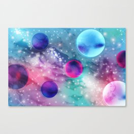 Vaporwave Pastel Space Mood Canvas Print