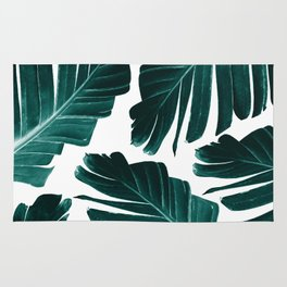Tropical Banana Leaves Dream #1 #foliage #decor #art #society6 Rug