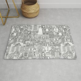 vintage halloween black white Rug