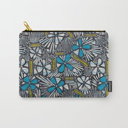 Asha Floral - Blue Carry-All Pouch