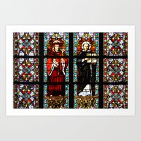 stained glass Art Prints featuring Stained glass by Marieken