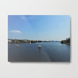 Hamburg, Alster lake Metal Print