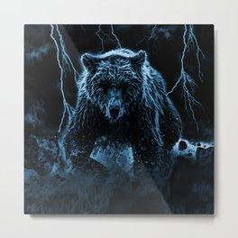 RUNNING BEAR Metal Print