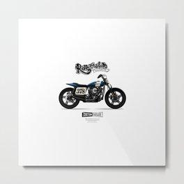Vintage Street Tracker Motorcycle Poster (2) Metal Print