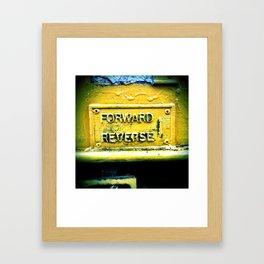 backward & forwards Framed Art Print