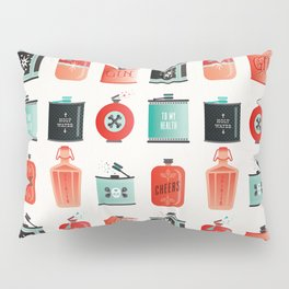 Flask Collection – Red & Turquoise Palette Pillow Sham