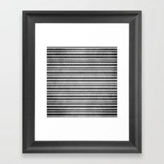 Chalkboard Stripes Framed Art Print