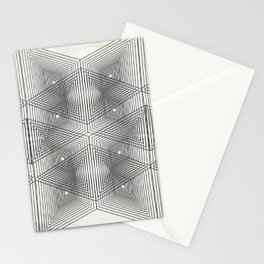 Optical Vibrations in Black and White Stationery Cards
