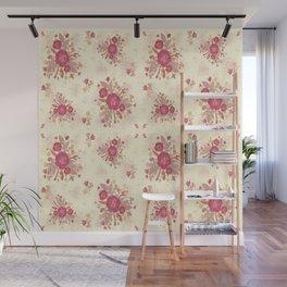 Roses Pink n Cream Wall Mural