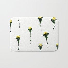 hand draw wild flowers Bath Mat