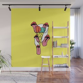 Icecream Licking Wall Mural