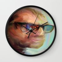 christian schloe Wall Clocks featuring Christian Gerhartsreiter by robotrake