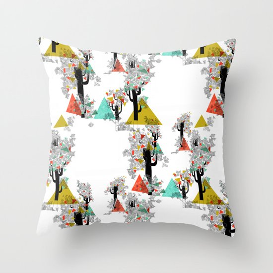Tree Triangles Throw Pillow