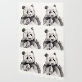 Panda black white Wallpaper