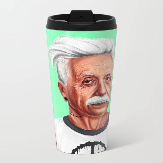 Hipstory -  Albert Einstein Metal Travel Mug