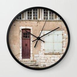 Little Brown Door Wall Clock