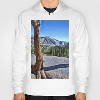 yosemite Hoodies featuring Yosemite park by Claude Gariepy