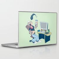 popeye Laptop & iPad Skins featuring Popeye by Kalablu Studio