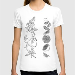 Citrus Branch of Lemons and Slices of Fruit T-shirt