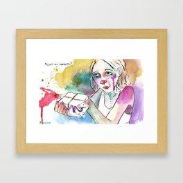 Accept my secrets? Framed Art Print