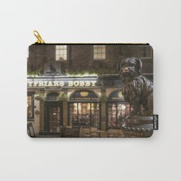 Bobby Greyfriars dog statue at night Edinburgh Scotland pub Carry-All Pouch