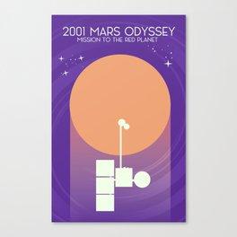 2001 Mars Odyssey science art poster. Canvas Print