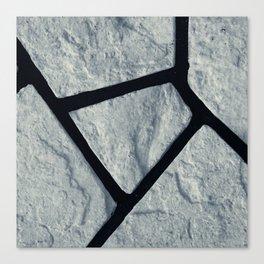 stone black line uneven chic moon gray pattern Canvas Print