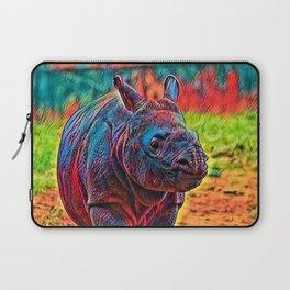 AnimalColor Rhino 001 Laptop Sleeve