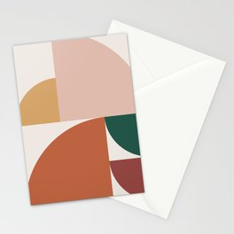 Abstract Geometric 10 Stationery Cards