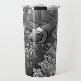 Clown Fish (Black and White) Travel Mug